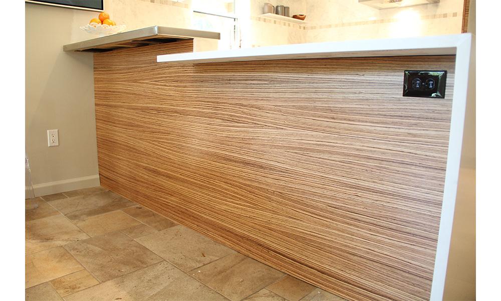 Zebra Wood Kitchen Cabinets