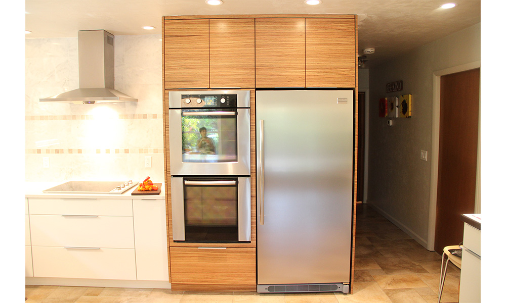 Zebra wood kitchen