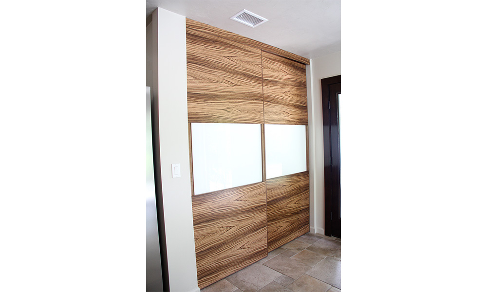 Jason Straw Woodworker Contemporary Zebra Wood Cabinets