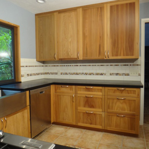 Jason Straw Woodworker | River Recovered Cypress Kitchen Cabinets