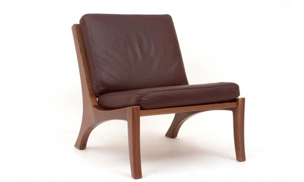 Custom Black Walnut Lounge Chair
