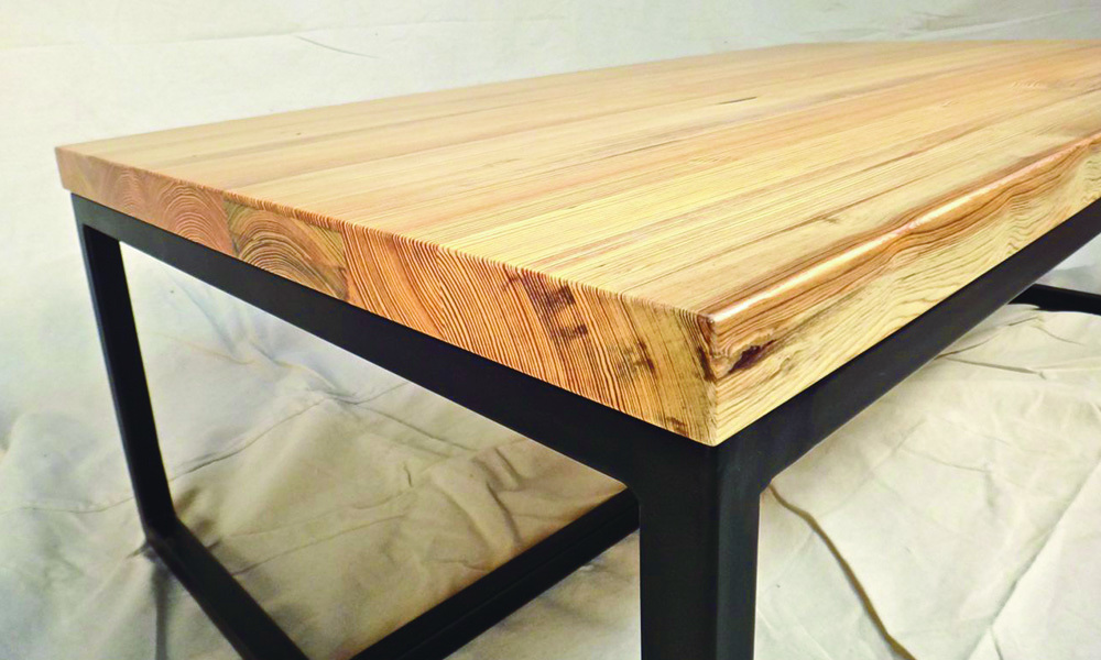 Perfect This Hand Crafted Table Top Is Solid Straight Grain Quarter Sawn Wood. The  Base, Custom Welded And Powder Coated, Satin Black. Price $2,000 $2,500