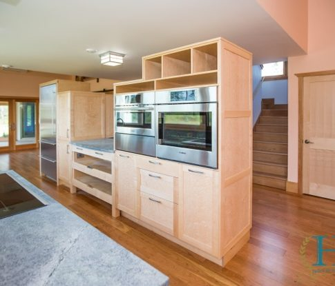 Jason Straw Woodworker Bird S Eye Maple Kitchen Cabinets