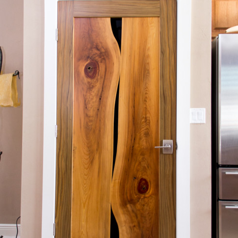 Jason Straw Woodworker Live Edge Cypress Door