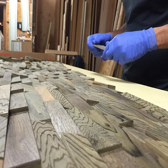 Jason straw woodworker beginning to lay some of the salvaged beginning to lay some of the salvaged cypress tiles into the frame i hope to ppazfo