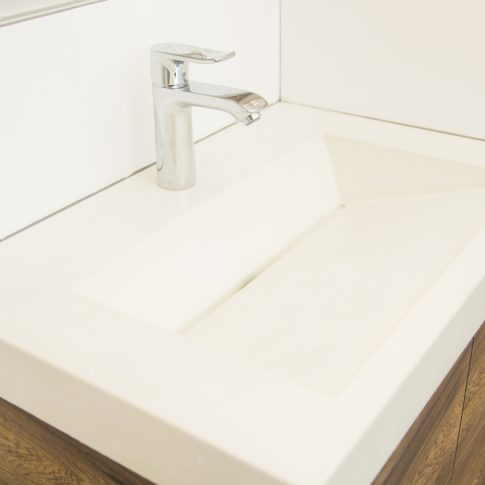 Ordinaire The Concrete Sink Was Custom Made By Beton Studios In St. Pete.. We Design,  Build And Install Custom Bathroom Vanities Throughout Florida.
