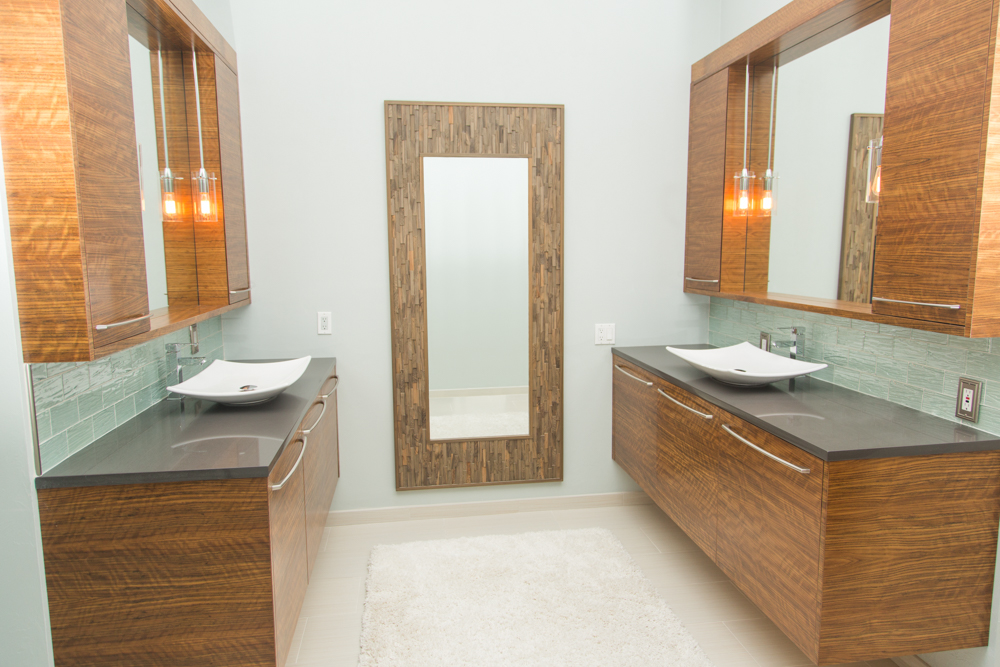 Jason Straw Woodworker Modern Bathroom Remodel His And Her - Gainesville bathroom remodel